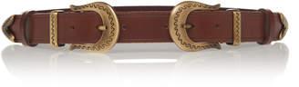 Alberta Ferretti Girovita Double-Buckle Leather Belt