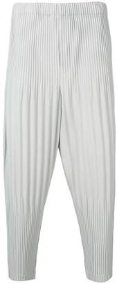 Issey Miyake Homme Plissé ribbed drop-crotch trousers