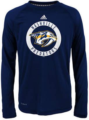 adidas Nashville Predators Practice Graphic Long Sleeve T-Shirt, Big Boys (8-20)