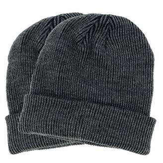 accsa Men's Winter Warm Rib Knit Cable Cozy Beanie - 2 Pack