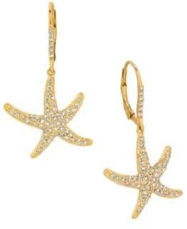 Morris & David Diamonds and 14K Yellow Gold Star Earrings