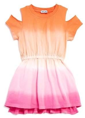 Splendid Girls' Dip-Dye Cold-Shoulder Dress - Little Kid, Big Kid