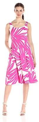 Donna Morgan Women's Sleeveless Printed Palm Print Midi Dress $23.27 thestylecure.com
