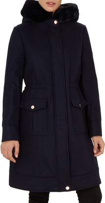 Ted Baker Aniyah Faux Fur Hooded Jacket
