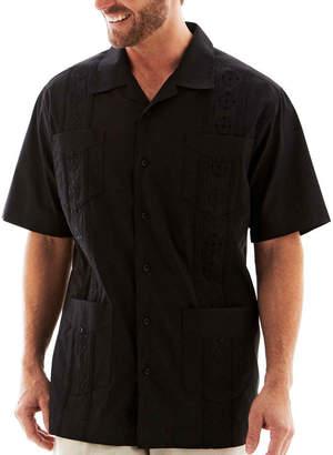 HAVANERA Havanera Mens Short Sleeve Button-Front Shirt