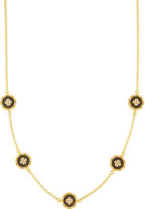 Freida Rothman Short Medallion Clover Station Necklace