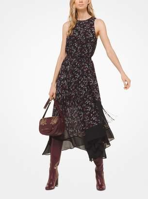 MICHAEL Michael Kors Botanical Georgette Handkerchief Dress