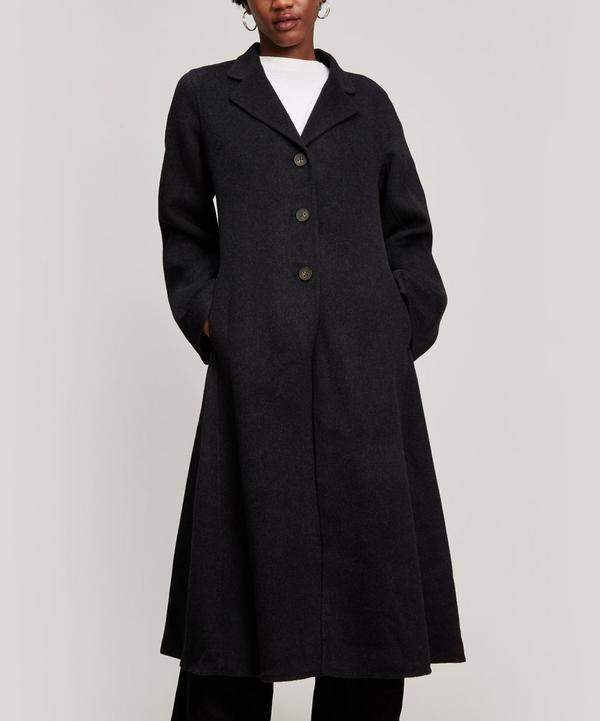 Wool and Cashmere Long Swing Coat