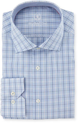 Bugatchi Classic Fit Plaid Cotton Dress Shirt