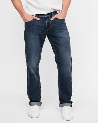 Express Slim Straight Dark Wash Soft Cotton Stretch Jeans