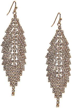 Kelly & Katie Pave Feather Drop Earrings - Women's