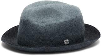 Filù Hats Filu Hats - Malmo Wool Blend Felt Derby Hat - Womens - Blue