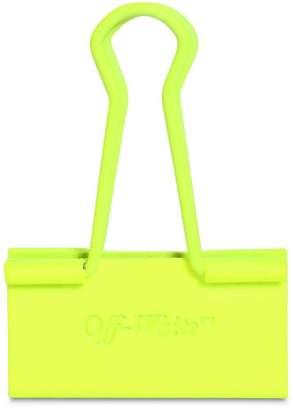 Off-White Neon Binder Clip