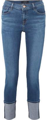 J Brand Maude Mid-rise Slim-leg Jeans - Mid denim