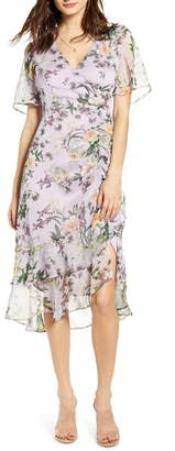ASTR the Label Floral Ruched Front Dress