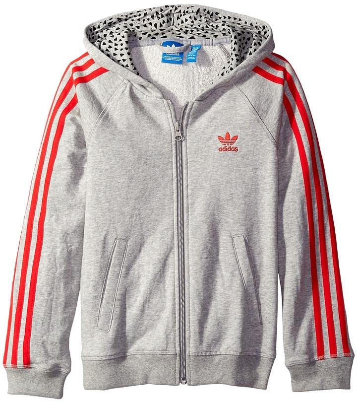 adidas Originals Kids - Young Wild Free Trefoil Hoodie Girl's Sweatshirt