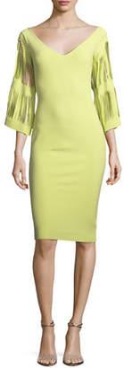 Chiara Boni Hali V-Neck Cutout-Sleeve Dress