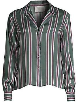 Alexis Women's Samwell Striped Satin Button Shirt