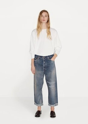 Chimala Wide Tapered Cut Selvedge Jeans $518 thestylecure.com