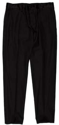 Dolce & Gabbana Silk-Trimmed Wool Pants