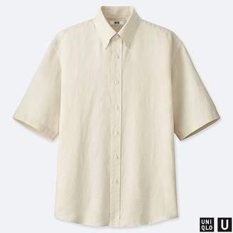 Uniqlo Men's U Premium Linen Wide-fit Short-sleeve Shirt