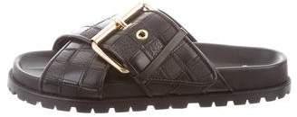 Sacai Leather Patchwork Sandal