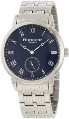 Rudiger Men's R3000-04-003 Leipzig Stainless Steel Blue Dial Roman Numeral Watch