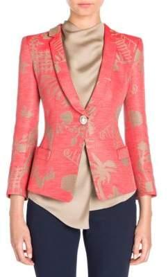 Giorgio Armani Oriental Jacquard Silk Jacket