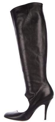 Maison Margiela Leather Knee-High Boots