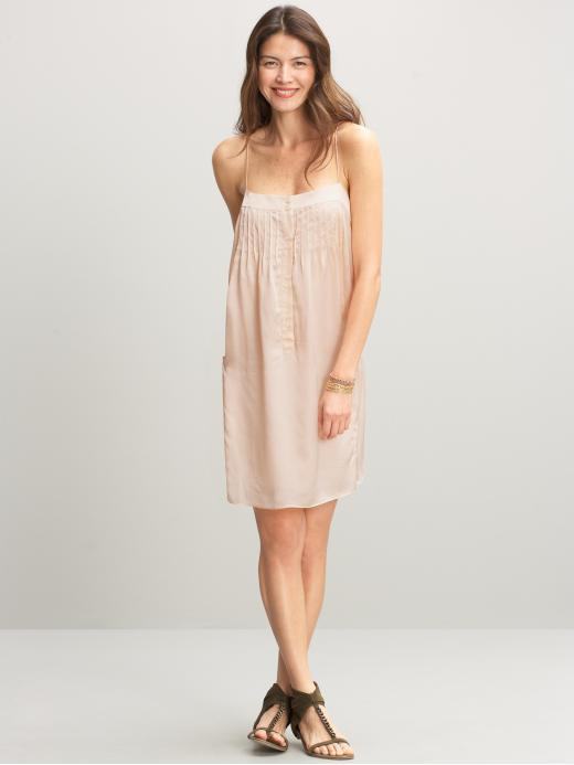 Heritage silk pintuck dress