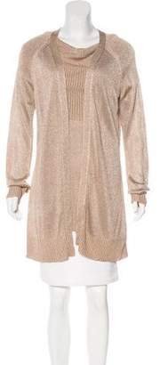 Magaschoni Long Sleeve Cardigan Set