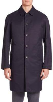 Saks Fifth Avenue COLLECTION Solid Long-Sleeve Trench Coat