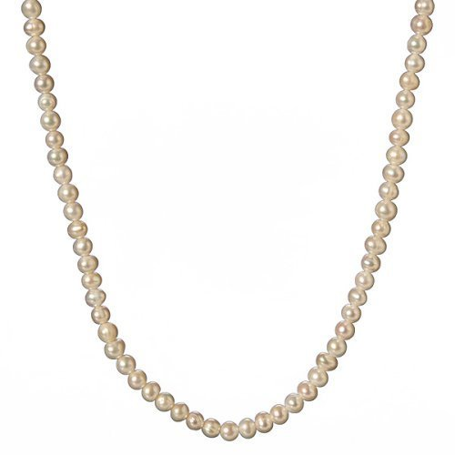 Adjustable Strand Pearl Necklace - White