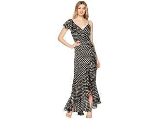Jill Stuart Ruffle Printed Gown Women's Dress