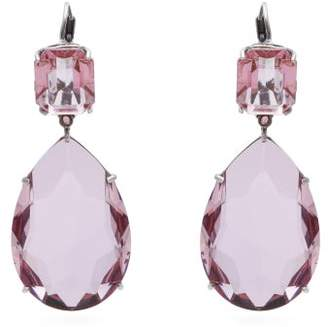 Alexander McQueen Crystal Drop Earrings - Womens - Pink