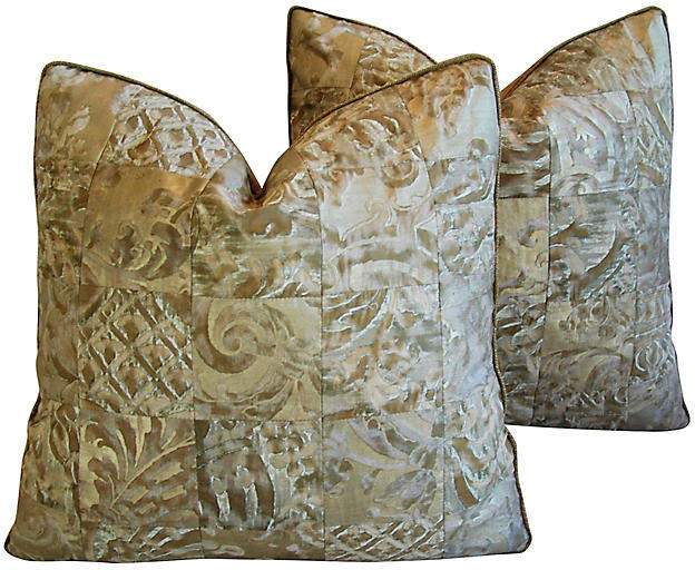 Fortuny Carnavalet & Glicine Pillows