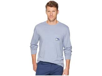 Vineyard Vines Long Sleeve Vampire Whale Pocket Tee