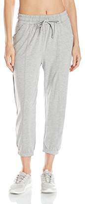 Pink Lotus PL Movement by Women's Cozy Lounge Pant with Elastic Front and Drawstring Tappered Ankle