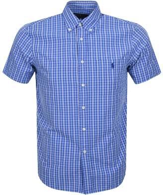 Ralph Lauren Short Sleeved Check Shirt Blue