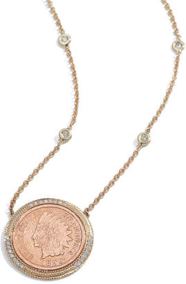 Jacquie Aiche Pave & Copper Antique-Coin Necklace
