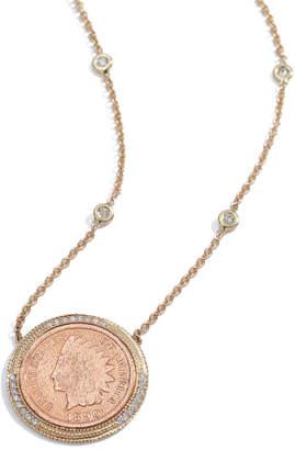 Jacquie Aiche Pave & Copper Antique-Coin Necklace
