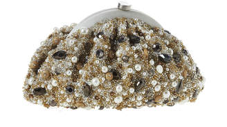 Santi Ivory Pearl Gold Clutch