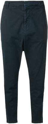 Nili Lotan cropped drop-crotch trousers