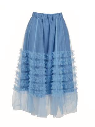 P.A.R.O.S.H. Long Ruffle Skirt