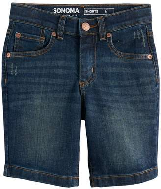 Sonoma Goods For Life Boys 4-7x SONOMA Goods for Life Dark Wash Denim Shorts