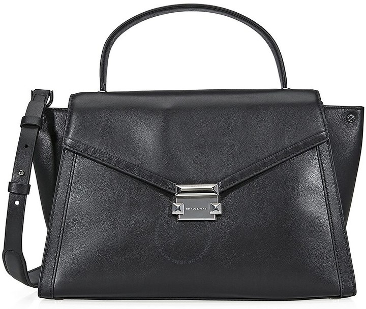 Michael Kors Whitney Large Leather Satchel- Black - ONE COLOR - STYLE