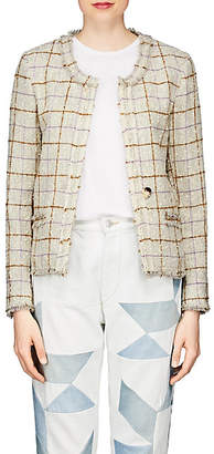 Etoile Isabel Marant Women's Lyra Checked Wool Jacket - White