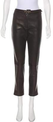 Valentino Mid-Rise Belted Pants