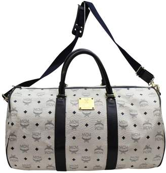 MCM White Synthetic Travel Bag