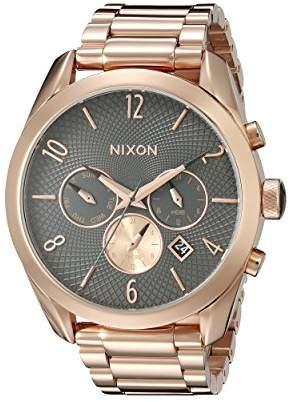 Nixon Women's A3662046 Bullet Chrono Analog Display Analog Quartz Rose Gold Watch